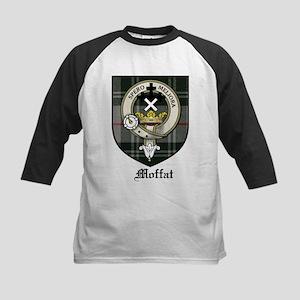 Moffat Clan Crest Tartan Kids Baseball Jersey