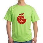 Bite Me. Green T-Shirt