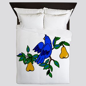 Partridge In A Pear Tree Queen Duvet