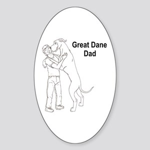 N GD Dad Oval Sticker