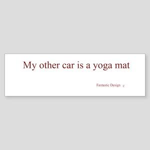Yoga Mat Bumper Sticker
