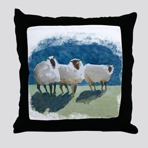 3sheepV Throw Pillow