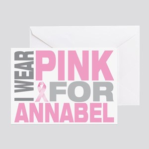 I-wear-pink-for-ANNABEL Greeting Card