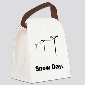 Snow Day Canvas Lunch Bag