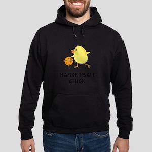 Basketball Chick Black Hoodie (dark)