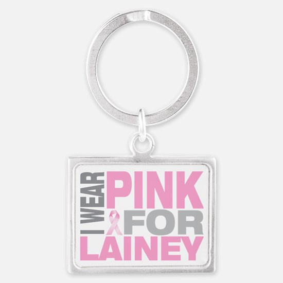 I-wear-pink-for-LAINEY Landscape Keychain