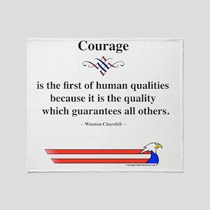 Winston Churchill Courage Throw Blanket