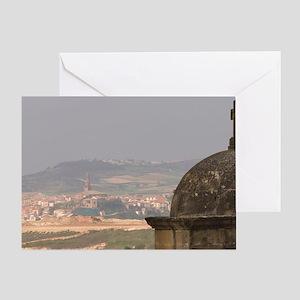 View from Iglesia (church) Parroquia Greeting Card