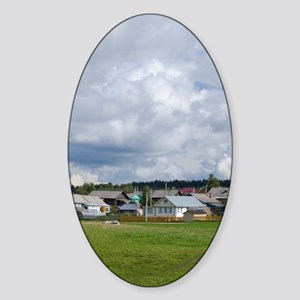 Goritzy. Typical countryside viewri Sticker (Oval)