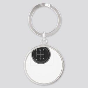 Driving Respect The Sport White Round Keychain