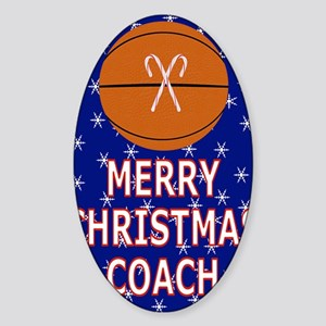 Merry Christmas Greeting Card for B Sticker (Oval)