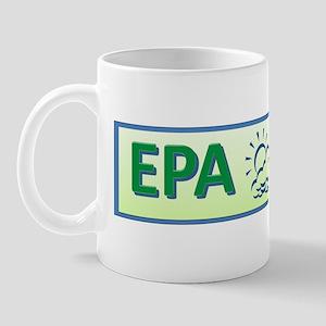 EPA green letters_sun Mug