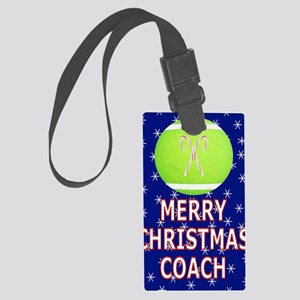 Merry Christmas Greeting Card fo Large Luggage Tag