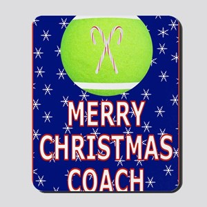 Merry Christmas Greeting Card for Tennis Mousepad