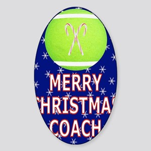 Merry Christmas Greeting Card for T Sticker (Oval)