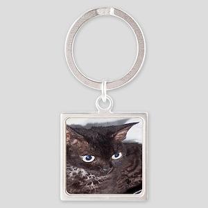 Cat-Sack-1 Square Keychain