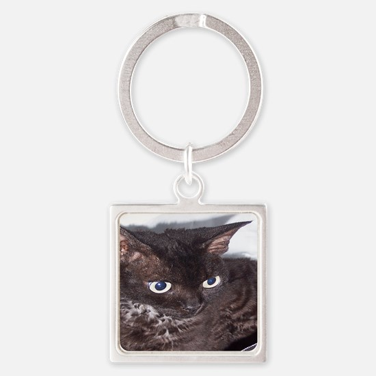 Cat-Sack-1 Square Keychain