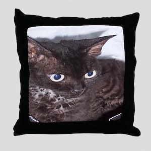 Cat-PJs-1 Throw Pillow