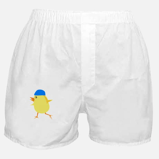 Swimmer Chick White Boxer Shorts