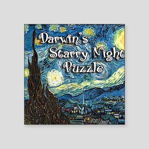 "Darwins Square Sticker 3"" x 3"""