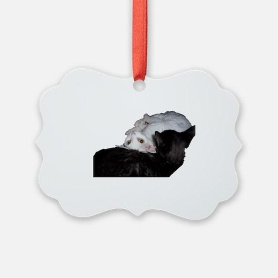 Cat-Glass-2 Ornament