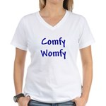 Comfy Womfy Women's V-Neck T-Shirt