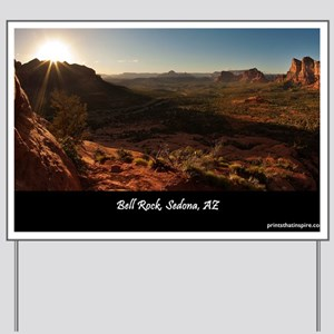 BELL ROCK VIEW_v2_CAFE PRESS_16x20 Yard Sign