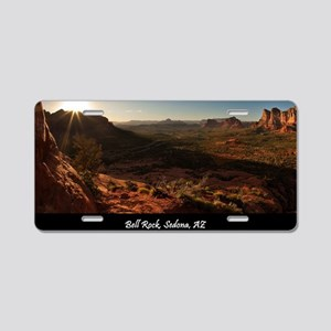 BELL ROCK VIEW_v2_CAFE PRES Aluminum License Plate