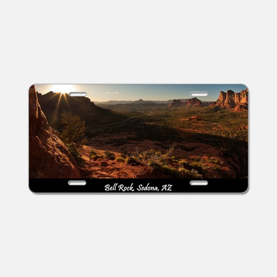 BELL ROCK VIEW_v2_CAFE PRES Aluminum License Plate