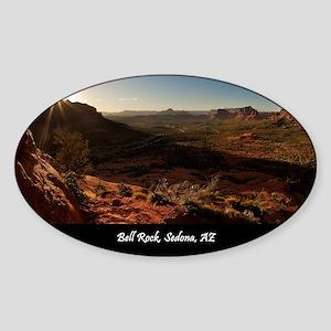 BELL ROCK VIEW_v2_CAFE PRESS_16x20 Sticker (Oval)