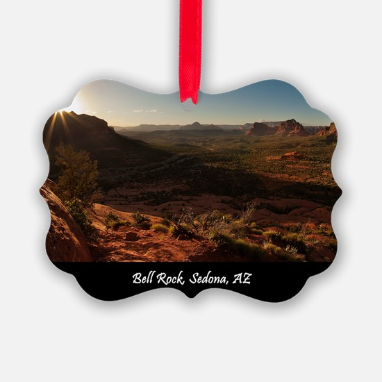 BELL ROCK VIEW_v2_CAFE PRESS_16x2 Ornament