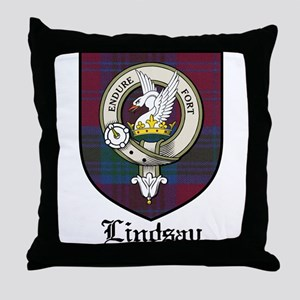 Lindsay Clan Crest Tartan Throw Pillow