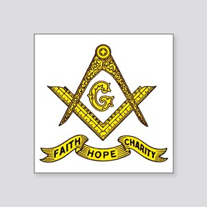 "Faith Hope Charity Square Sticker 3"" x 3"""