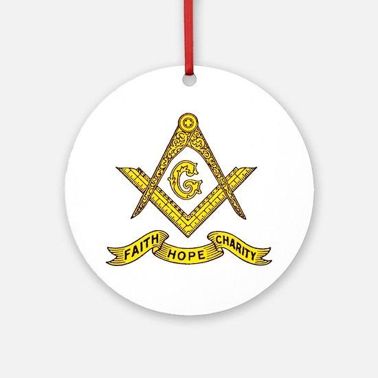Faith Hope Charity Round Ornament