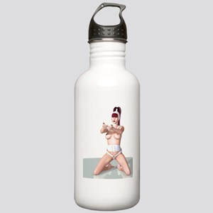 wanna_play_f_notecard_ Stainless Water Bottle 1.0L