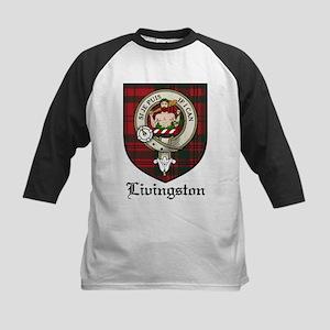 Livingston Clan Crest Tartan Kids Baseball Jersey