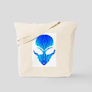 Aqua Blue Alien Tote Bag