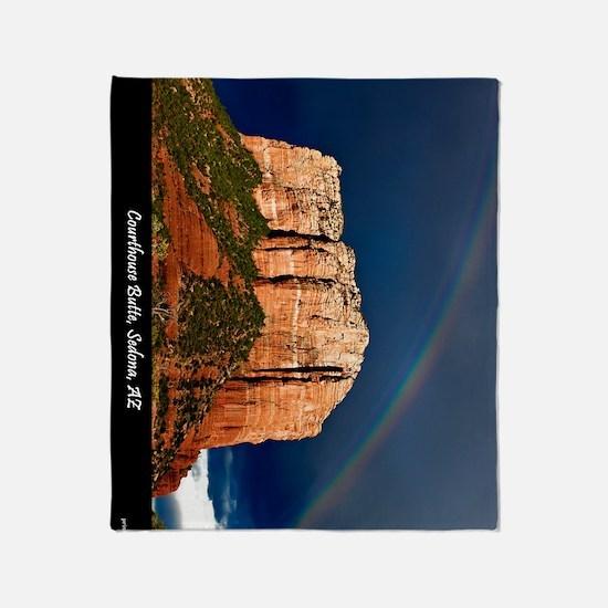 Red Rock Rainbow 12x18 Throw Blanket