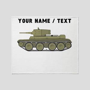 Custom Military Tank Throw Blanket