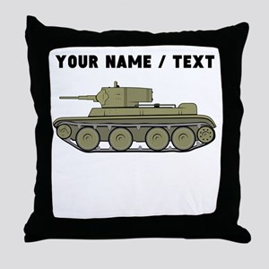 Custom Military Tank Throw Pillow