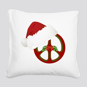 santa_peace_10  Square Canvas Pillow