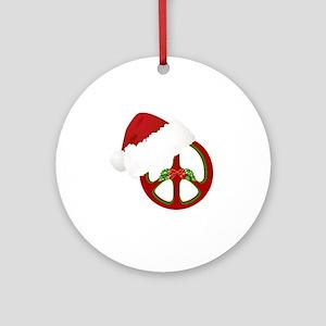 santa_peace_10  Round Ornament