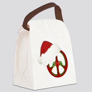 santa_peace_10  Canvas Lunch Bag