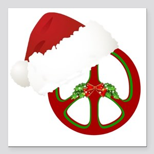 "santa_peace_10  Square Car Magnet 3"" x 3"""