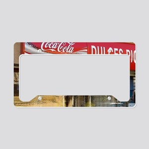 Red sign for a candy store fr License Plate Holder