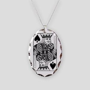 kingspadesblack Necklace Oval Charm