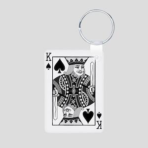 kingspadesblack Aluminum Photo Keychain