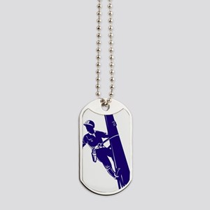 power lineman electrician repairman Dog Tags