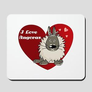I love angora rabbits Mousepad