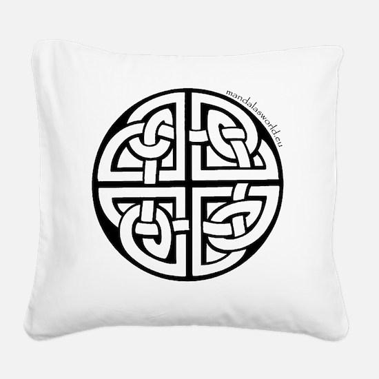 iPhone Celtic Mandala n2 Blac Square Canvas Pillow
